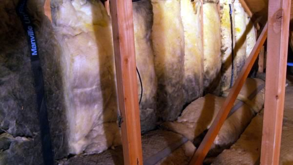 dirty fiberglass insulation